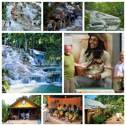 Dunn's River Falls & Bob Marley Mausoleum Combo Tour Jamaica