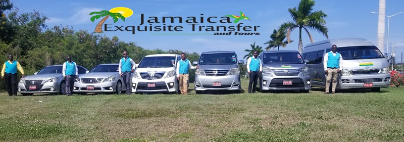 These or some of the drivers at Jamaica Exquisite Transfer and Tours LTD, From right JJ, Carl, Yashi, Phillip Kemar and Anthony